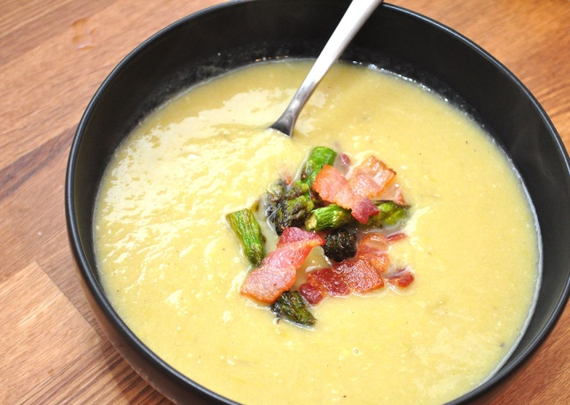 ... here for printer-friendly version: Light and Creamy Asparagus Soup